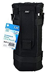 JW DLP-7 Deluxe Lens Pouch Bag Case 130mm x 310mm for Sigma 150-500mm F5-6.3 DG OS HSM Tamron SP 150-600mm F/5-6.3 Di VC USD Sigma 150-600mm F5-6.3 DG OS HSM | C Sigma 150-600mm F5-6.3 DG OS HSM + JW emall Micro Fiber Cleaning Cloth