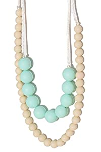 Mama & Little - Deila Silicone Teething Necklace - Sweet Mint