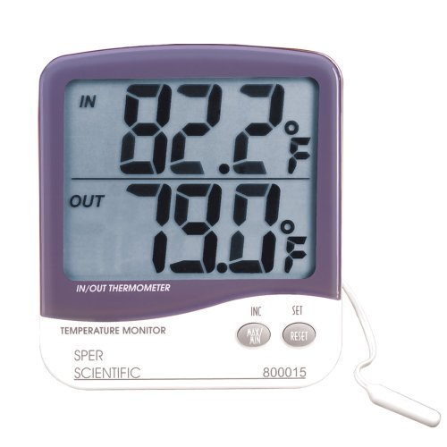 Large Display Digital Indoor Outdoor Thermometer | Sper Scientific | 800015