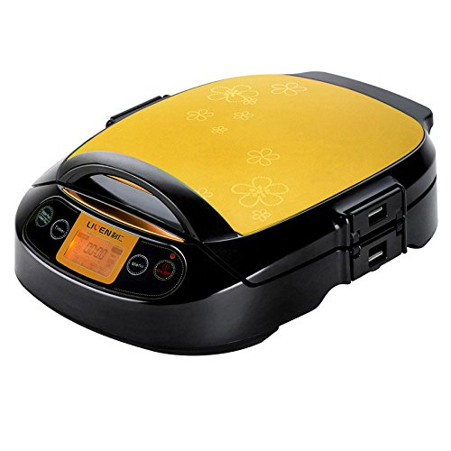 Liren LR-300HF 12-inch Electric Foldaway Skillet with Removable Pan and Cover,champagne