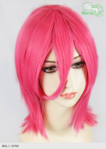 スキップウィッグ 魅せる シャープ 小顔に特化したコスプレアレンジウィッグ シャイニーミディ ダークピンク