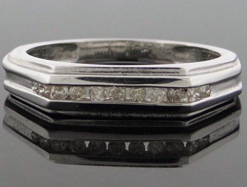 Designer Women's Wedding Band Ring 14k White Gold 0.35ct Diamonds WG-WB-R196-JGK