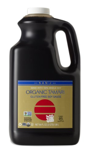 San-J Organic Tamari Gluten Free Soy Sauce Non-GMO,  Gold Label, 64 Ounce (San J Soy Sauce compare prices)