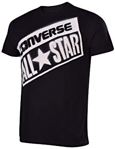 Converse Men's All Star Diagonal License Plate T-Shirt-Black-Large