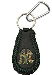 MLB New York Yankees Camouflage Baseball Keychain