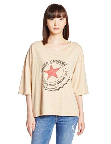 (ロデオクラウンズワイドボウル)RODEO CROWNS WIDE BOWL Diner STAR 7分袖 Tシャツ 4209AR90-1440  BEG F