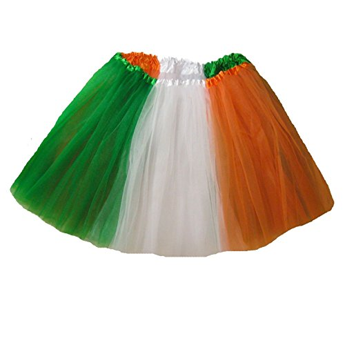 Southern Wrag Company . Adults . St Patricks IRISH FLAG Tutu . Waist 25-50 Length 16