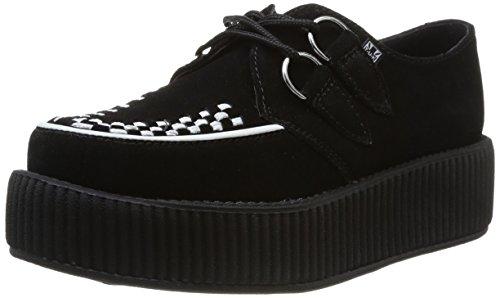 T.U.K.  Mondo Sole Round Creeper,  Sneaker donna Nero nero 39