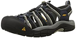 KEEN Men\'s Newport H2 Sandal, Midnight Navy/Feather Gray, 9 M US