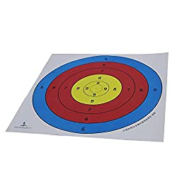 Generic 5x Archery Target Faces Heavy Gauge Paper for Recurve Bow - 40*40cm