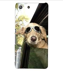 ColourCraft Funny Dog Design Back Case Cover for SONY XPERIA M5 E5603 / E5606 / E5653