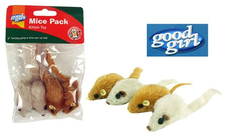 GOOD GIRL Catnip Mice Pack Kitten Toy