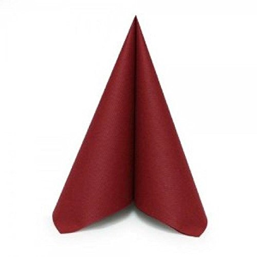 Dinner Napkins -Like Cloth yet Disposable - BURGUNDY - Unfolded (250 ct) by SimuLinen