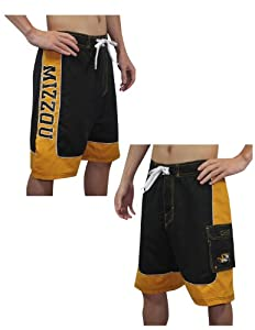 Buy Mens NCAA Missouri Tigers Athletic Sports Shorts with Swim Lining by NCAA