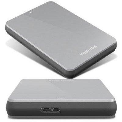 Toshiba Canvio 1.0 TB USB 3.0 Portable Hard Drive - HDTC610XS3B1 (Silver)