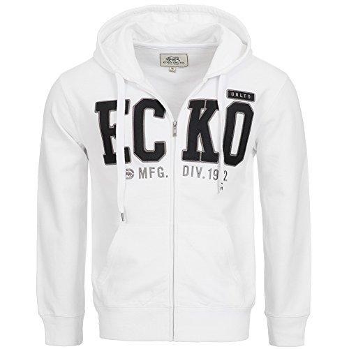 Ecko Unltd Big Brand Full Zip Felpa Con Cappuccio Felpa Per Allenamento Con Cappuccio - bianco, L