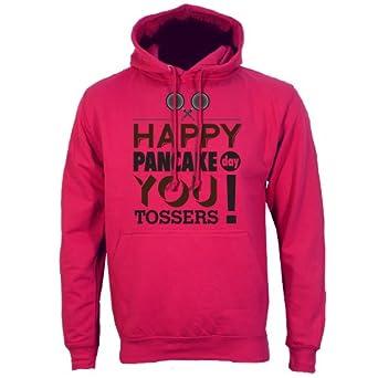 "Dark Pink Small (Mens 36"" - 38"") Happy Pancake Day You Tossers Mens Hoodie"