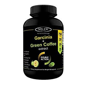 Sinew Nutrition Weight Management Combo 750mg (Garcinia Cambogia and Green Coffee Bean Extract) - 120 Pure Veg Capsules, 100 % Pure & Natural Appetite Suppressant Supplement