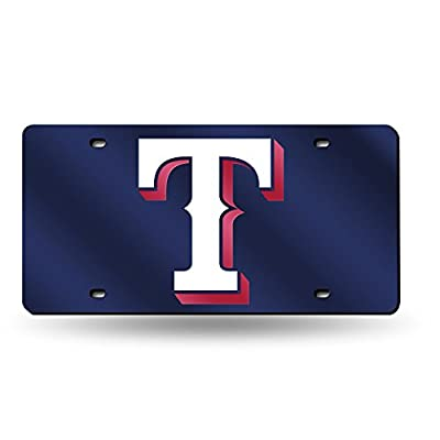 Texas Rangers Official MLB 12 inch x 6 inch Laser Cut License Plate by Rico Industries
