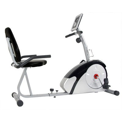 Body Champ Magnetic Recumbent Bike Silver/Black