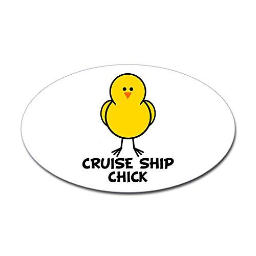 CafePress-Sticker-Oval-Cruise-Ship-Chick-Oval-Sticker
