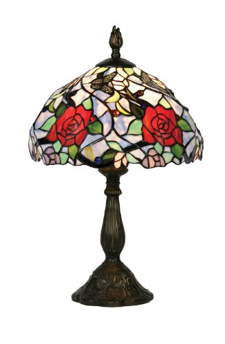 Oaks Lighting Flite Tiffany Table Lamp, 12-inch