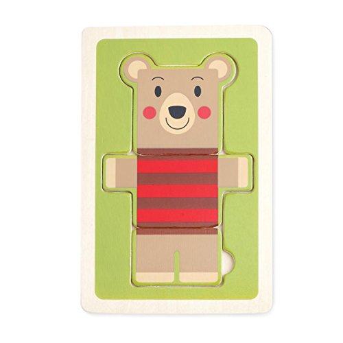 DEMDACO 3 Piece Puzzle, Bjorn Bear