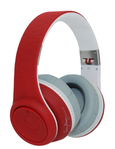 Fanny Wang 2000 Series Over Ear DJ Headphone with Remote -Red/White Black Friday & Cyber Monday 2014