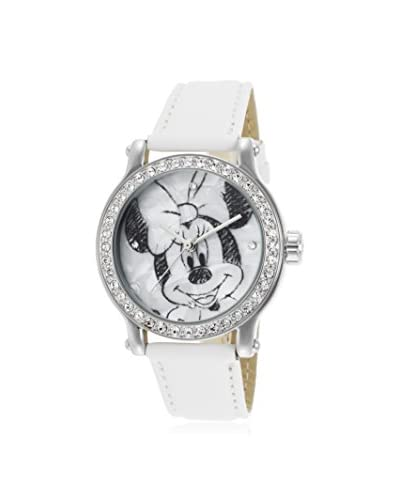 Disney Kid's Minnie Mouse White Leather Watch