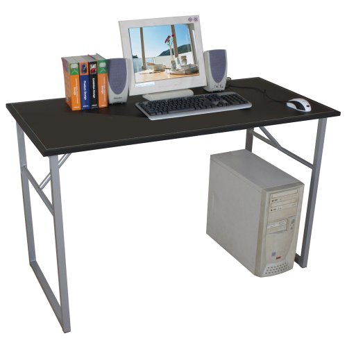 SPIFF - Metal Frame Workstation / Computer Desk - Black