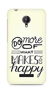 AMEZ do more of what makes you happy Back Cover For Micromax Canvas Spark Q380