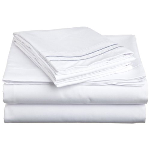Clara Clark 1500 Collection 4 piece Bed Sheet Set Queen Size, White