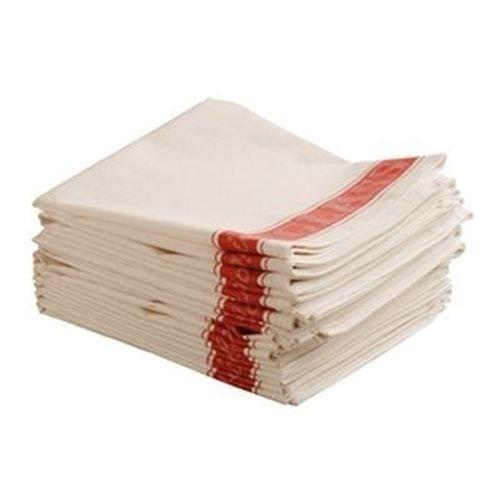 "5 Linen Union Tea Towel Red Border. 30""X20"""