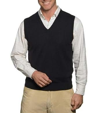 Wool Overs Pull sans manches homme en cachemire et coton Anthracite XS