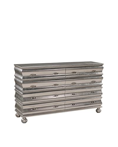 Coast to Coast Curvy 8-Drawer Credenza, Silver