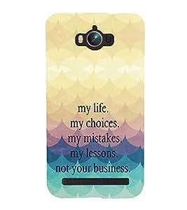 PRINTVISA Quotes Life Case Cover for Asus Zenfone Max