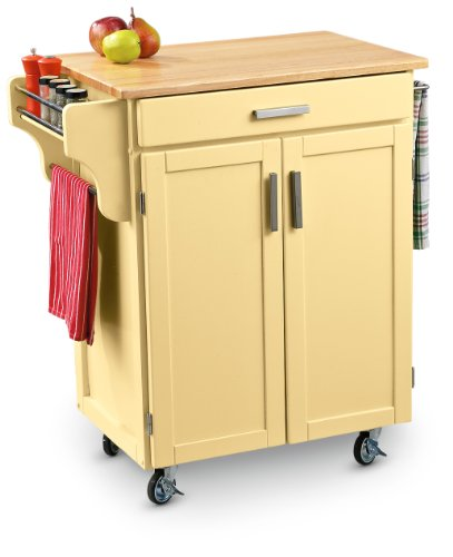 Cheap Rolling Wood – top Kitchen Cart (B0036UTAZ2)