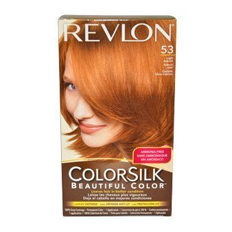 revlon coloration permanente colorsilk beautiful color couleur radieuse longue tenue couleur 53 auburn clair - Coloration Revlon