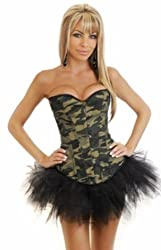 clubcorsets Army Military Corset Moulin Rouge Fancy Dress Outfit clubware hen party
