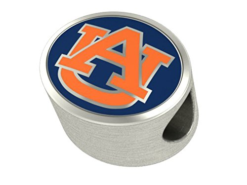 Auburn Tigers Charms Fit Most European Style Beaded Charm Bracelets