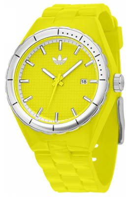 Adidas Originals Unisex Watch ADH2043 Cambridge with Yellow Dial and Yellow PU Strap