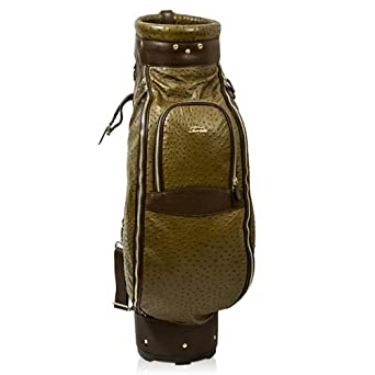 Terrida Italian Designer Brown Ostrich Leather Luxury Golf Bag w Hood Cover by Terrida