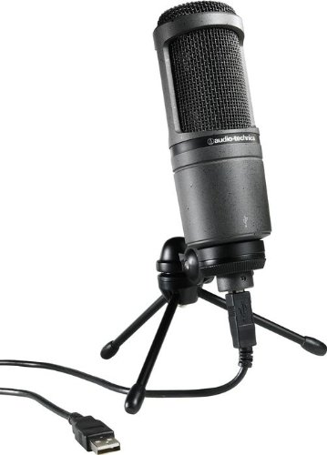 Audio-Technica At2020 Usb Condenser Usb Microphone With Samson Samd5 Desktop Mic Stand