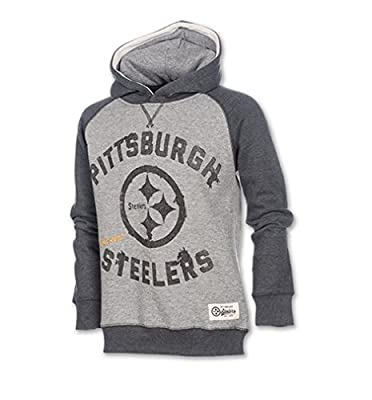 Pittsburgh Steelers Kid's Fade Arch Pullover Hoodie - Grey