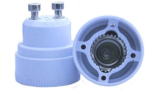 Toplimit 4 Pack Gu10 To E12 Led Light Bulb Lamp Socket Adapter White