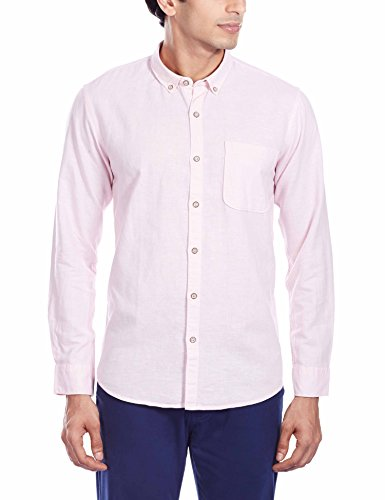 Cherokee Men's Casual Shirt (8907002968852_258830651-LS_Medium_Light Pink)