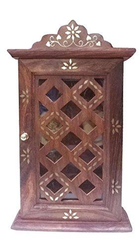 pmk-regalo-di-giorno-del-padre-cabinet-chiave-in-legno-con-vetro-porte-chex-design-portachiavi-box