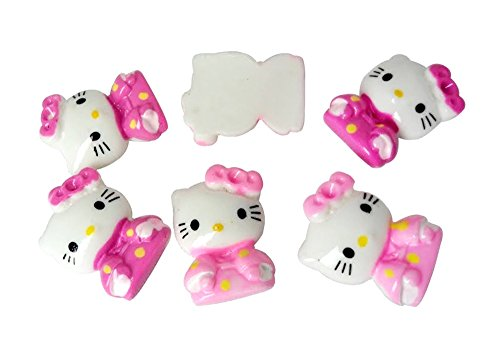 Resin Hello Kitty Cat Kimono Flatback Scrapbooking Embellishments Trim Supply Craft Applique (Hello Kitty Flatback Resins compare prices)
