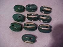 10 Green Ceramic Egg Antenna Tower Mast Guy Wire Insulators Cb Ham Radio