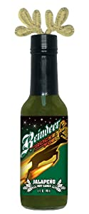 4 Pack Hsh Reindeer Rocket Fuel Jalapeno Hot Sauce With Antlers 5 Oz by Hot Sauce Harry's